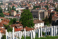 Sarajevo - Bosnia and Herzegovina. Sarajevo, the capital city of Bosnia and  Herzegovina, landscape view Stock Photography