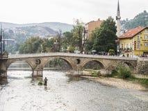 Sarajevo, bosnia and herzegovina, europe, latin bridge Royalty Free Stock Photos