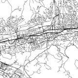 Sarajevo Bosnia and Herzegovina Vector Map Royalty Free Stock Photo