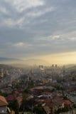 Sarajevo, Bosnien Ansicht der Stadt bei Sonnenuntergang Stockfotos