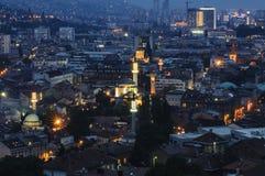 Sarajevo Bosnien och Hercegovina, Europa, sikt från över Fotografering för Bildbyråer