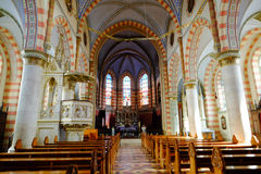 Sarajevo Cathedral. Internal view of the  Cathedral of Jesus' Heart in Sarajevo. Bosnia and Herzegovina Royalty Free Stock Photo