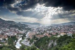 Sarajevo Cityscape Royalty Free Stock Photography