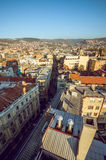 Sarajevo cityscape. View at Sarajevo streets and buildings from high viewpoint Stock Images