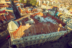 Sarajevo cityscape. View at Sarajevo streets and buildings from high viewpoint Royalty Free Stock Photos