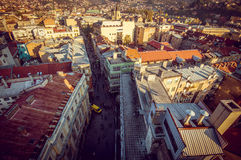 Sarajevo cityscape. View at Sarajevo streets and buildings from high viewpoint Royalty Free Stock Images