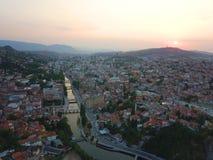 Sarajevo by Drone stock image
