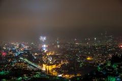 Sarajevo Fireworks Display Royalty Free Stock Image