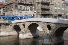 Sarajevo - gammal bro Royaltyfria Bilder