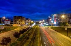 Sarajevo gata royaltyfri fotografi