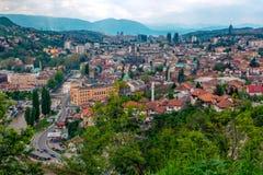 Sarajevo, Hauptstadt von Bosnien und Herzegowina Stockbilder