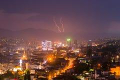 Sarajevo, hoofdstad van Bosnië-Herzegovina tijdens onweersbui Royalty-vrije Stock Afbeelding
