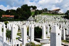 Sarajevo kyrkogård Arkivbild