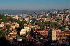 Sarajevo, Landschaftsansicht Lizenzfreie Stockfotos