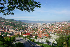 Sarajevo, Landschaftsansicht Stockfotografie