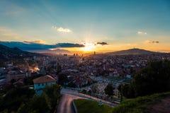 Sarajevo, Landschaftsansicht Lizenzfreies Stockbild