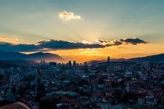 Sarajevo, Landschaftsansicht Lizenzfreies Stockfoto