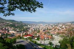 Sarajevo, landschapsmening Stock Fotografie