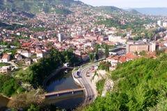 Sarajevo, landschapsmening stock foto's