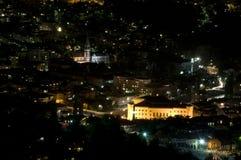 Sarajevo - nachtpanorama Royalty-vrije Stock Afbeelding