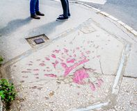 Sarajevo nam toe stock afbeelding