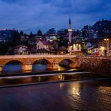 Sarajevo by night Royalty Free Stock Photos