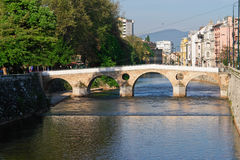 Sarajevo, old bridge on river Royalty Free Stock Images