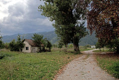 Sarajevo. An old house in the countryside of sarajevo, europe Royalty Free Stock Photography