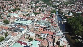 Sarajevo - The Old Town. The municipality of Stari Grad is characterized by its many religious structures and examples of unique Bosnian architecture. The Stock Photography