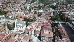 Sarajevo - The Old Town. The municipality of Stari Grad is characterized by its many religious structures and examples of unique Bosnian architecture. The Stock Photos