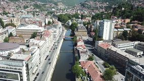 Sarajevo - The Old Town. The municipality of Stari Grad is characterized by its many religious structures and examples of unique Bosnian architecture. The Royalty Free Stock Photos