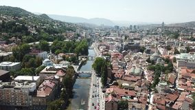 Sarajevo - The Old Town. The municipality of Stari Grad is characterized by its many religious structures and examples of unique Bosnian architecture. The Stock Image
