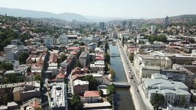 Sarajevo - The Old Town. The municipality of Stari Grad is characterized by its many religious structures and examples of unique Bosnian architecture. The Stock Images