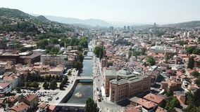 Sarajevo - The Old Town. The municipality of Stari Grad is characterized by its many religious structures and examples of unique Bosnian architecture. The Royalty Free Stock Photo