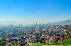 Sarajevo, opinião da paisagem Fotos de Stock