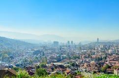 Sarajevo, opinião da paisagem Imagens de Stock Royalty Free