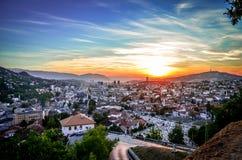 Sarajevo, opinião da paisagem Fotos de Stock Royalty Free