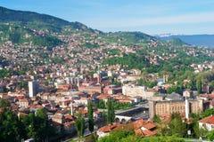 Sarajevo, opinión del paisaje imagen de archivo