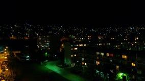 Sarajevo på natten Arkivfoto