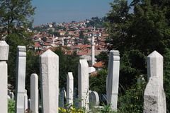 Sarajevo Oriental Panorama, Bosnia And Herzegovina royalty free stock photos