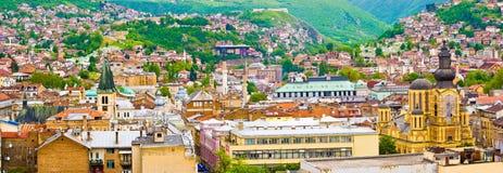 Sarajevo. Panoramic view of Sarajevo, Bosnia and Herzegovina stock photos