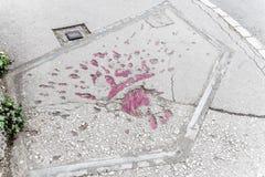 Sarajevo s'est levé photographie stock libre de droits