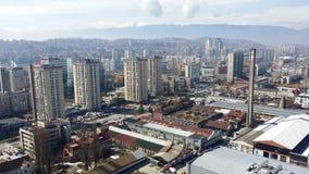 Sarajevo stadsdetalj arkivbilder