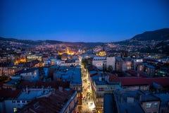 Sarajevo-Straßen Stockfoto