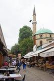 Sarajevo-Straßen-Restaurants Lizenzfreies Stockbild