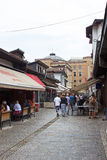 Sarajevo Street Restaurants Royalty Free Stock Photography