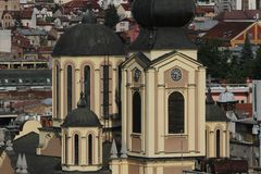 Sarajevo town of east and west cultures stock image