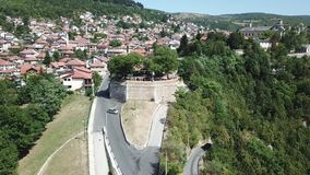 Sarajevo - Žuta tabija. The municipality of Stari Grad is characterized by its many religious structures and examples of unique Bosnian architecture. The Stock Photo