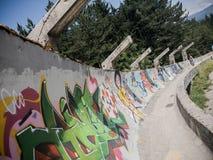 Sarajevo verließ olympischen Pendelpferdeschlitten Lizenzfreie Stockfotografie