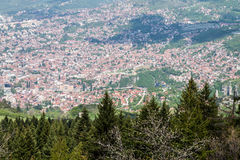 Sarajevo view stock photo